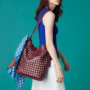 DVF Perforated Origami Bucket Bag